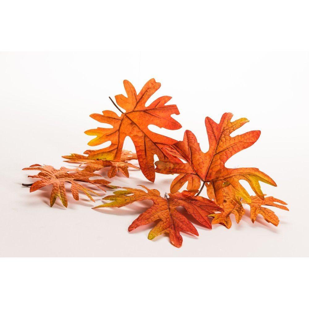 Feuilles d'automne oranges - sachet de 6 (photo)