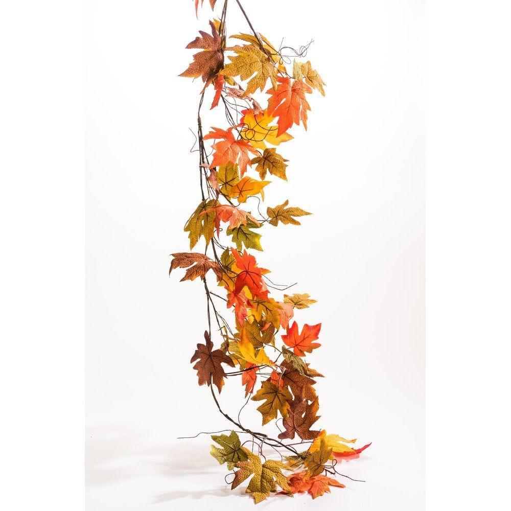 Guirlande de feuilles d'automne L.155cm (photo)