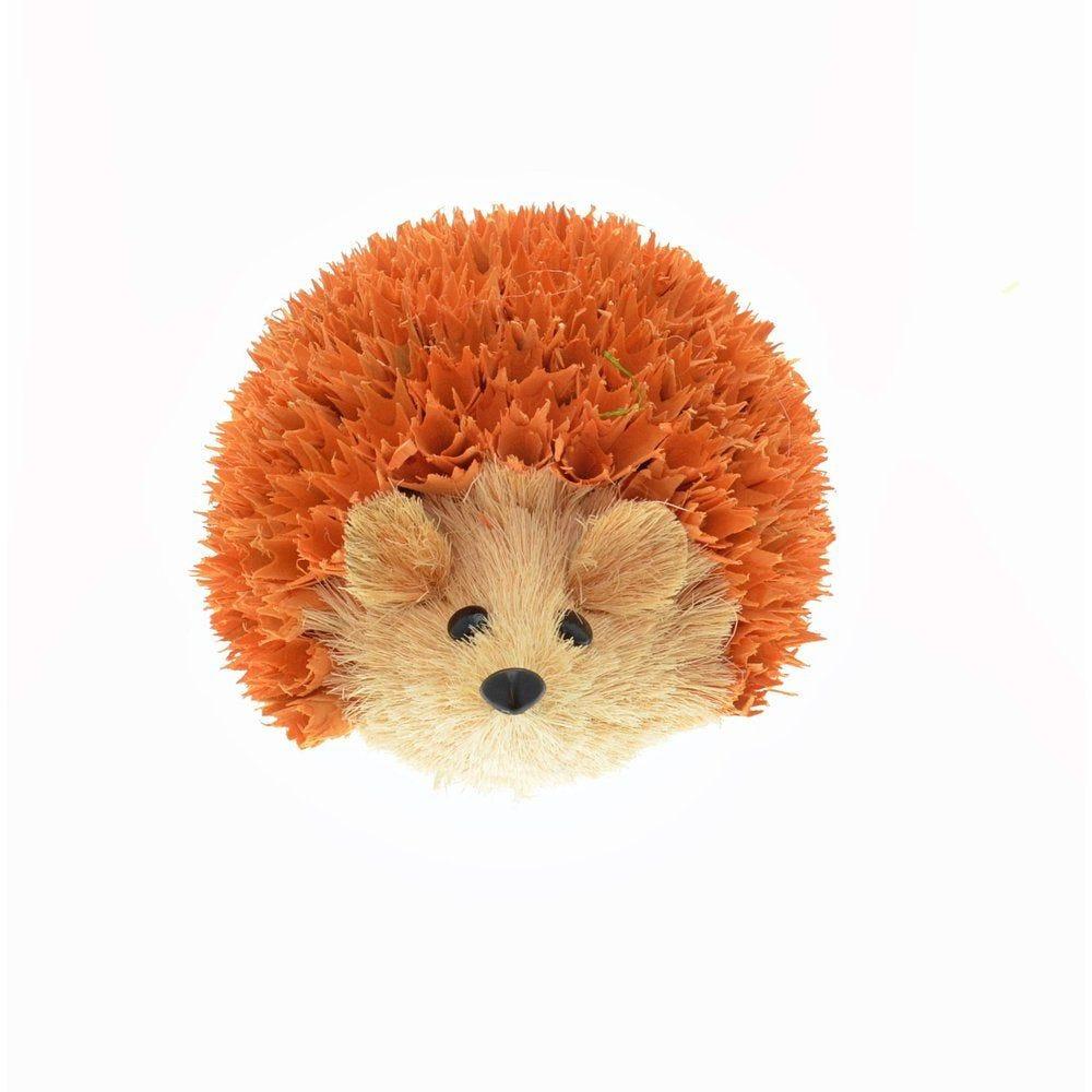 Hérisson marron ou orange H12,5cm - 2 choix possibles (photo)