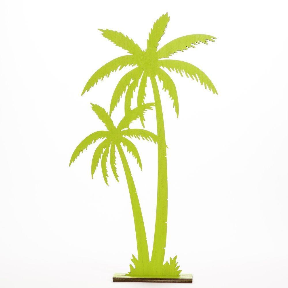 Palmiers verts en bois à poser 38x7x68,5cm (photo)