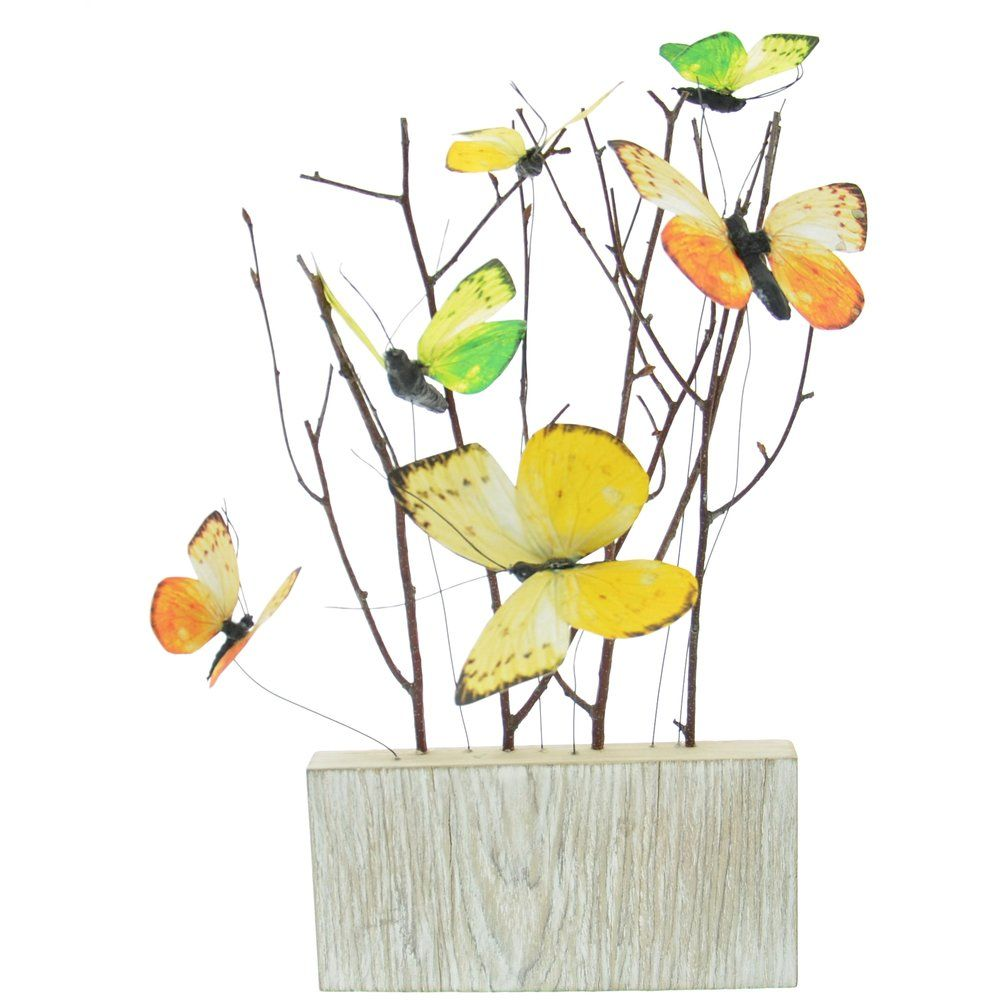 Décor en bois avec papillons 20x2,7x35cm (photo)