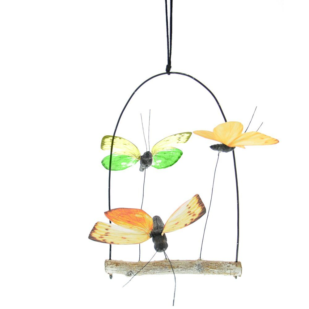 Suspension balançoire avec papillons 15x22cm (photo)