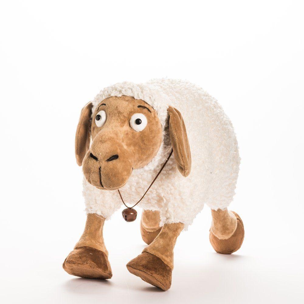 Mouton blanc et marron 60x27x40cm (photo)