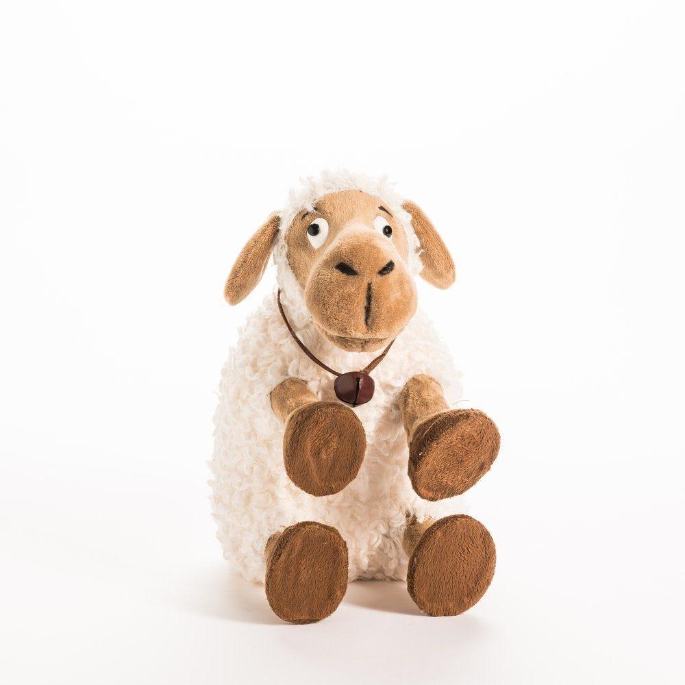 Mouton blanc et marron 23x15x26cm (photo)