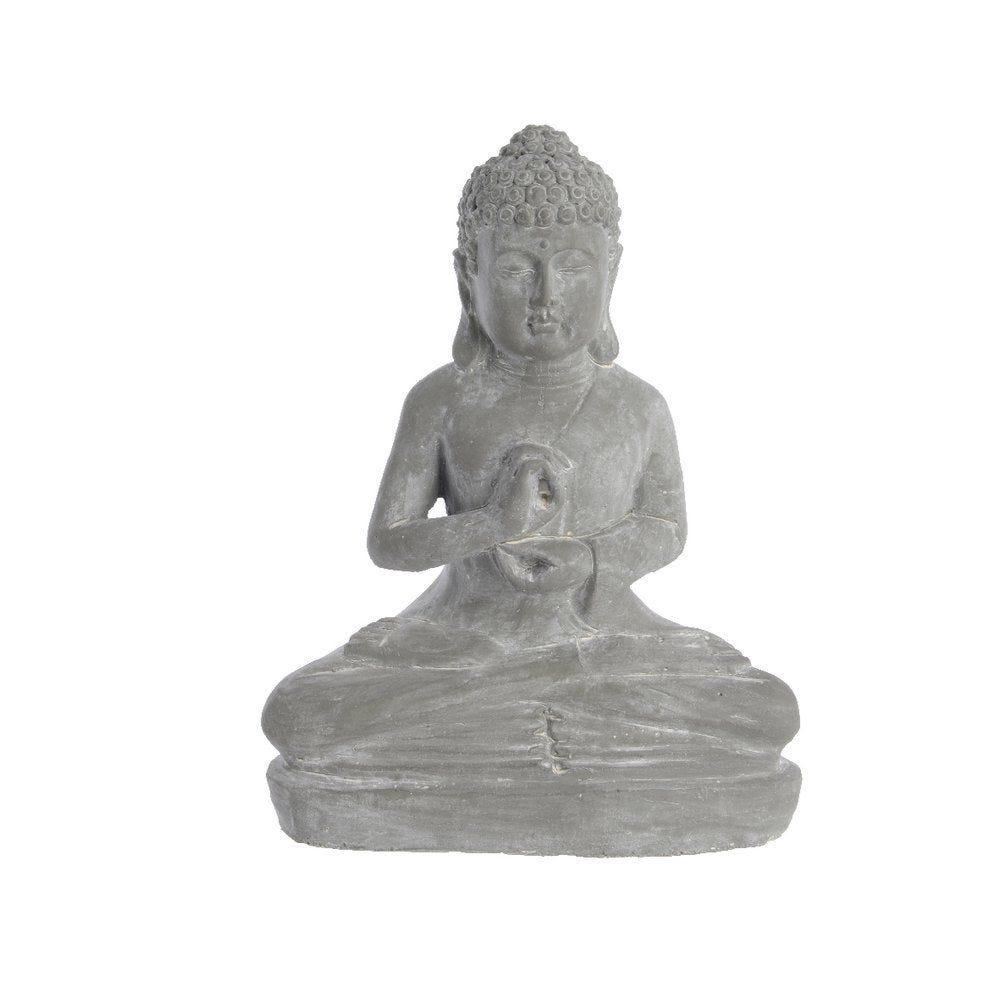 Bouddha en terre cuite gris 12x24,5x31cm (photo)
