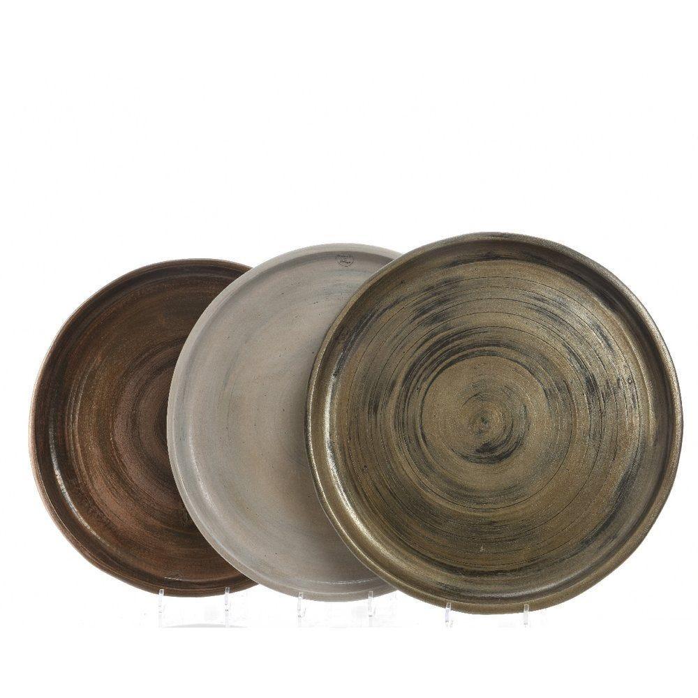 Assiette en terre cuite Ø 50cm - 3 coloris possibles (photo)