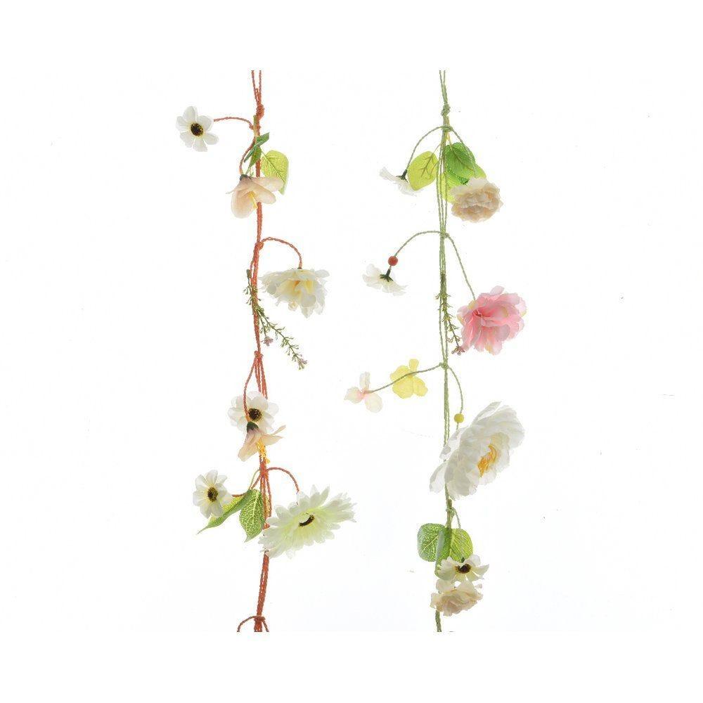 Guirlande de fleurs L.70cm - 2 coloris au choix (photo)
