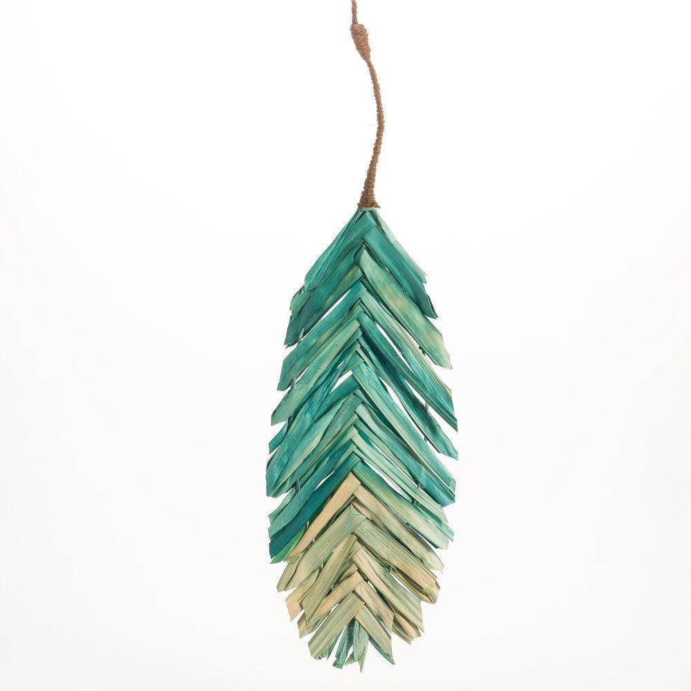 Feuille en papier vert bleu en 19x67cm (photo)