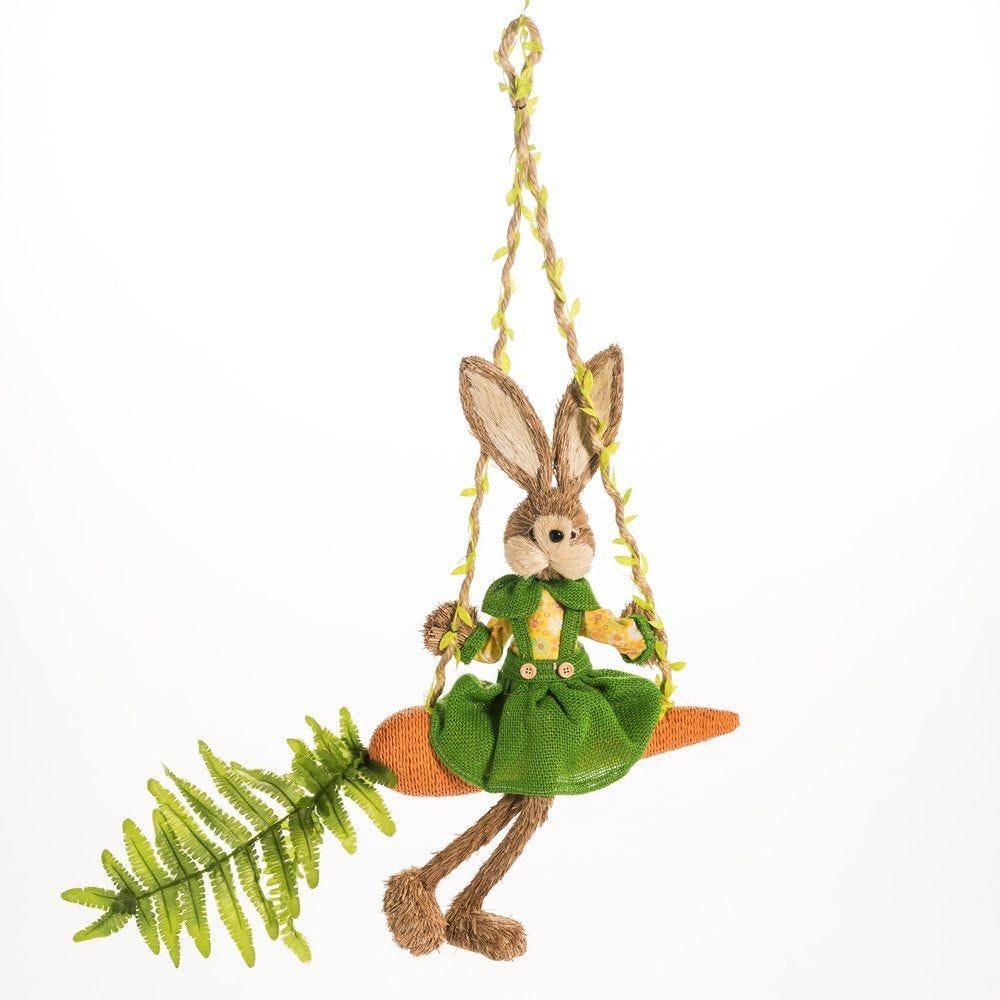 Lapine assise sur carotte 51x9,5x65cm (photo)