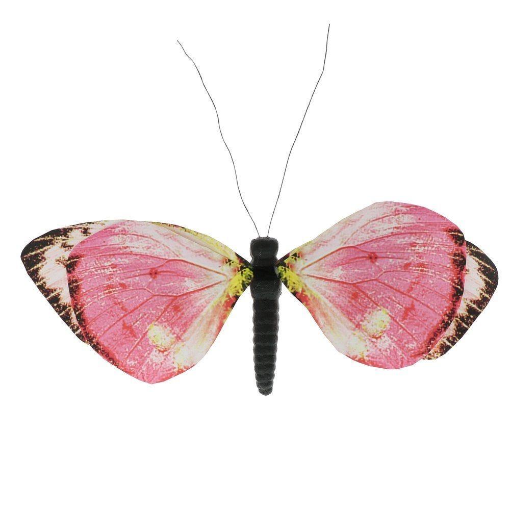 Papillon rose avec clip en 39x42cm (photo)