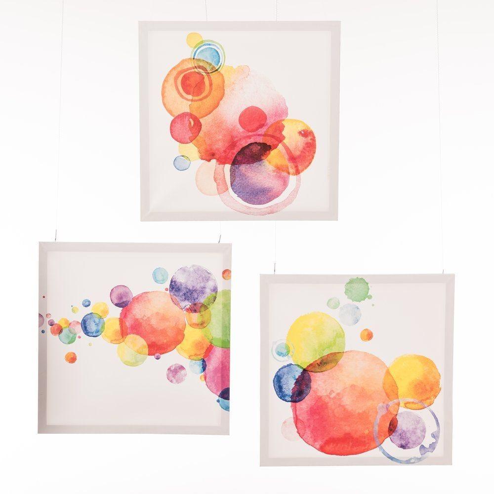 Toile décor bulles multicolores en 40x40cm - au choix (photo)