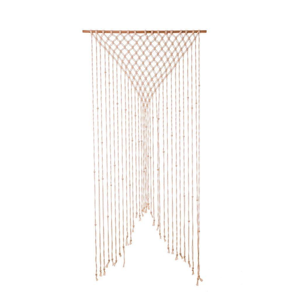 Rideau macramé en coton 90x200cm (photo)