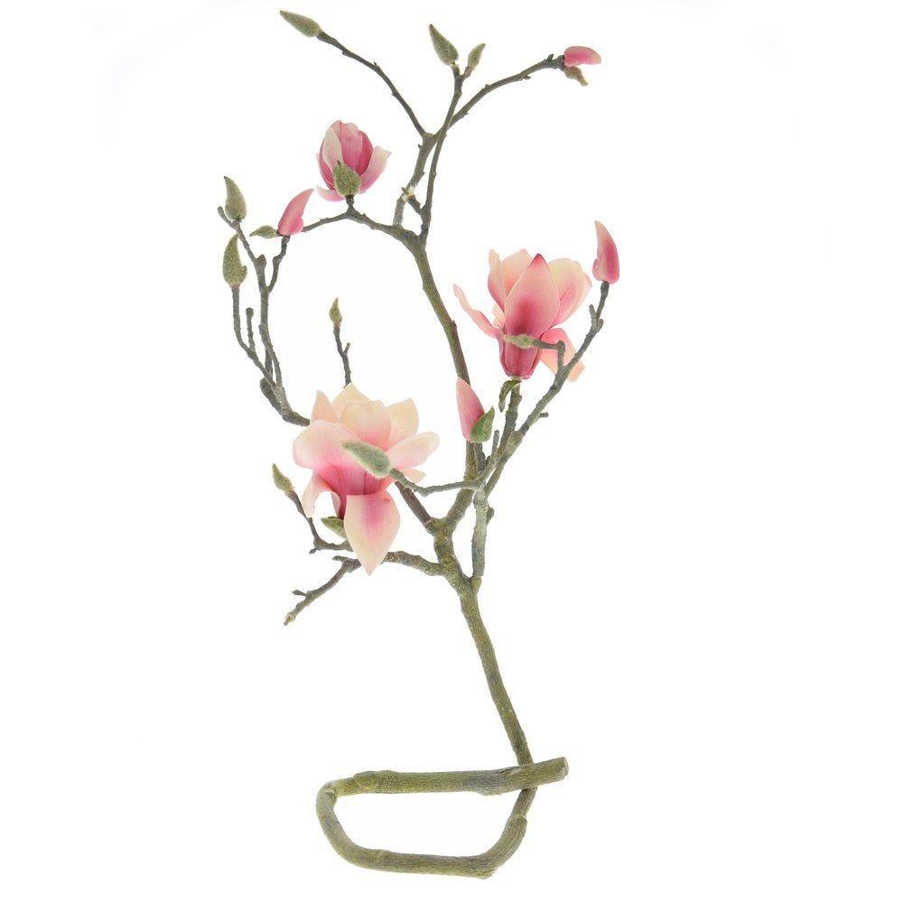 Branche magnolia fuchsia L.108cm (photo)
