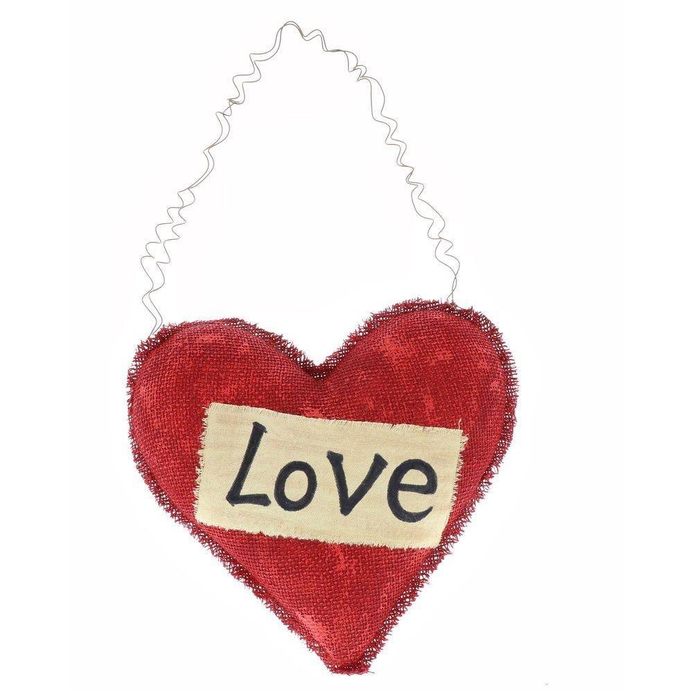 Coeur rouge You&Me à suspendre 35x33cm (photo)