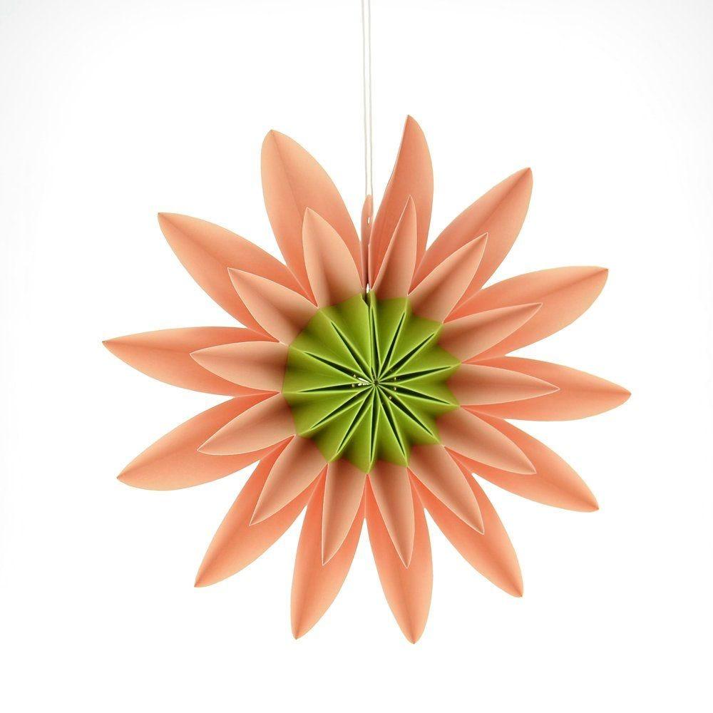 Fleur en papier corail d.24cm (photo)