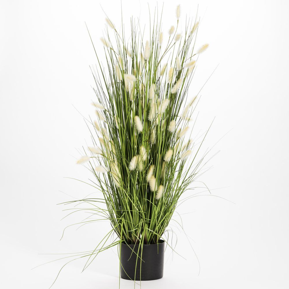 Fagot d'herbes vertes et pompoms h.91cm (photo)