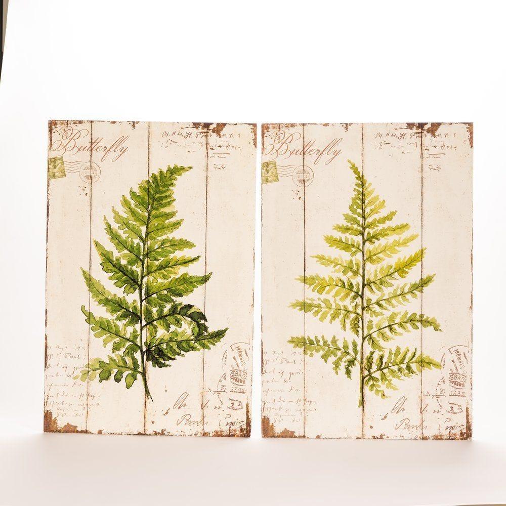 Panneau bois décor feuille 40x60cm - 2 modèles possibles (photo)