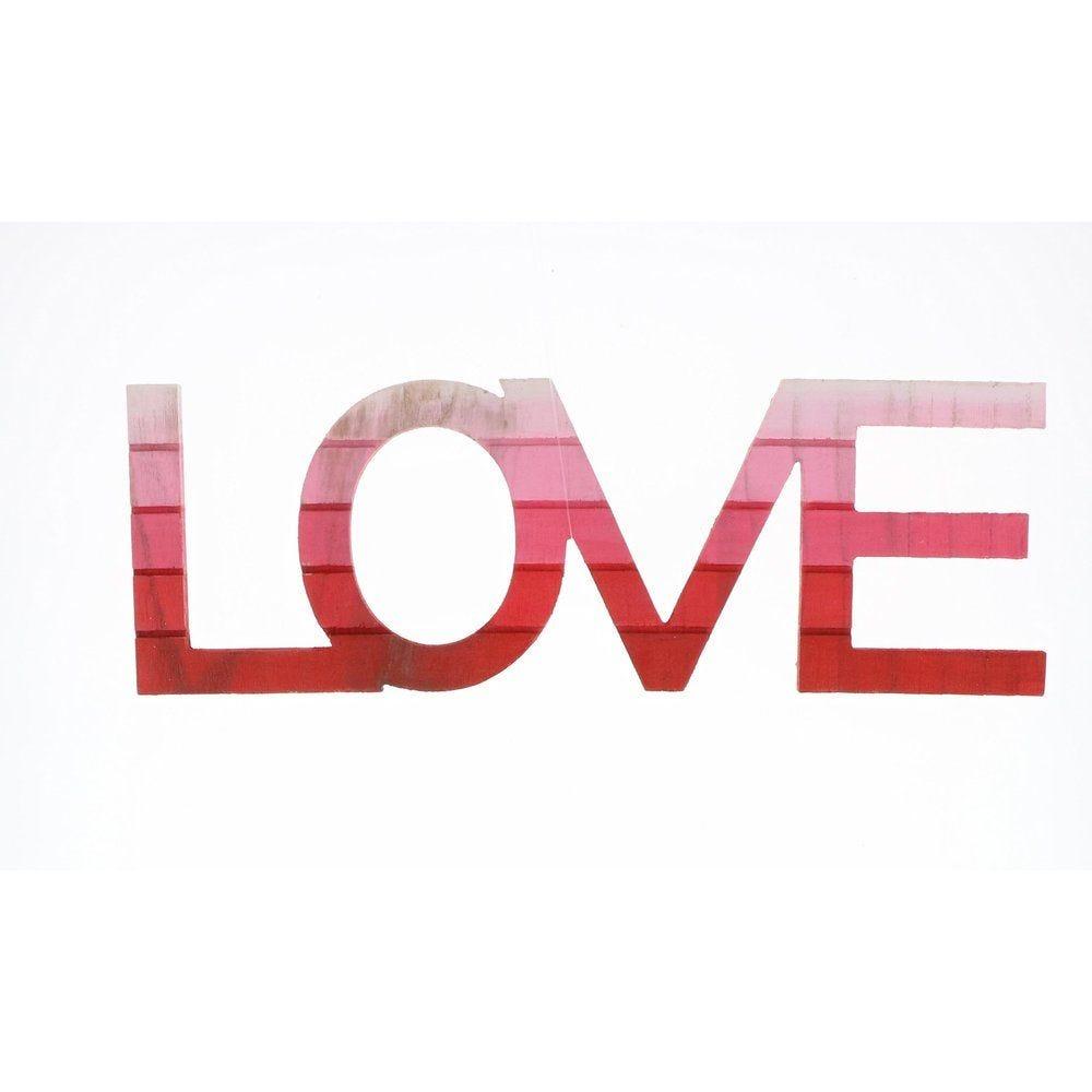 Love tie&dye en bois à poser en 45x15cm (photo)