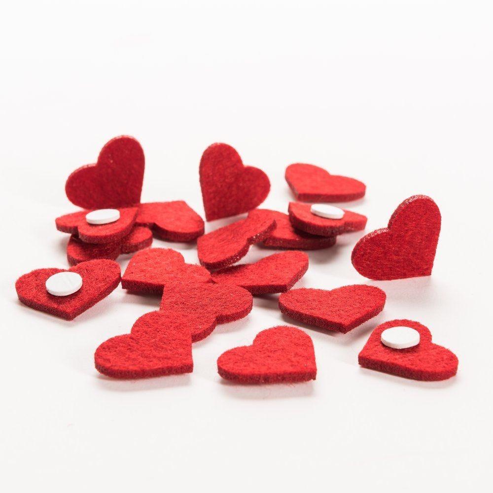 Coeurs stickers rouges 3cm - sachet de 60