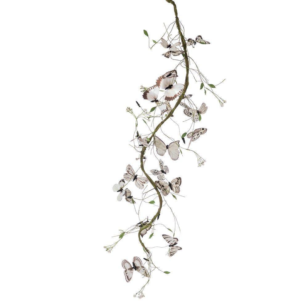 Guirlande de papillons blanc et noir L.120cm (photo)