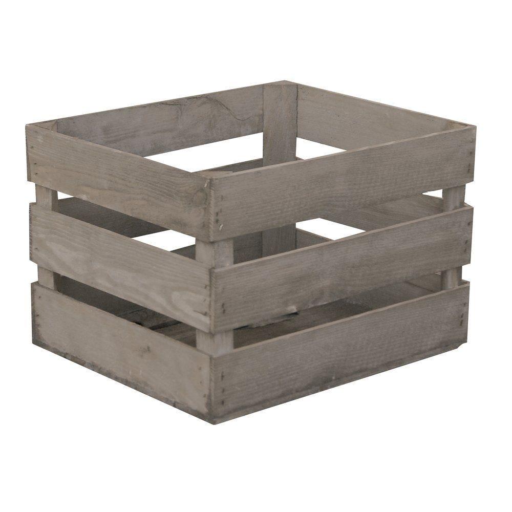Caisse en bois brut en L 50 x P 30 x H 40cm (photo)