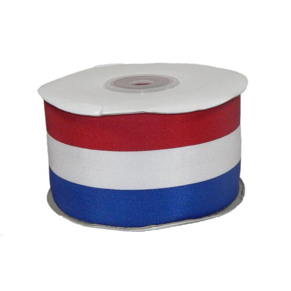 Bobine ruban 25 m tissu tricolore (photo)