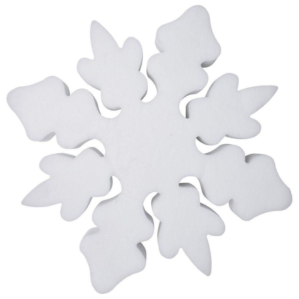 Flocon blanc 3D 30cm épaisseur de 10cm (photo)