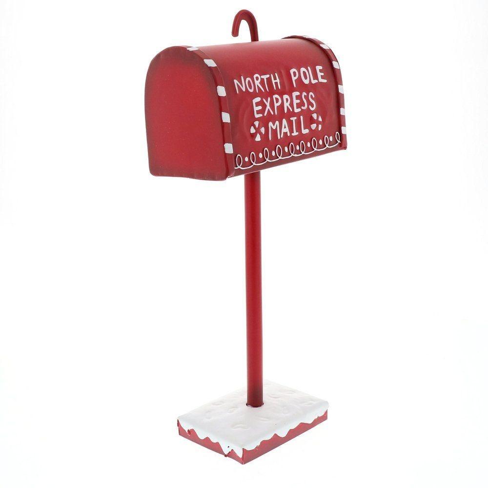Boîte aux lettres rouge L 14,5 x P 8,5 x H 32,5cm (photo)