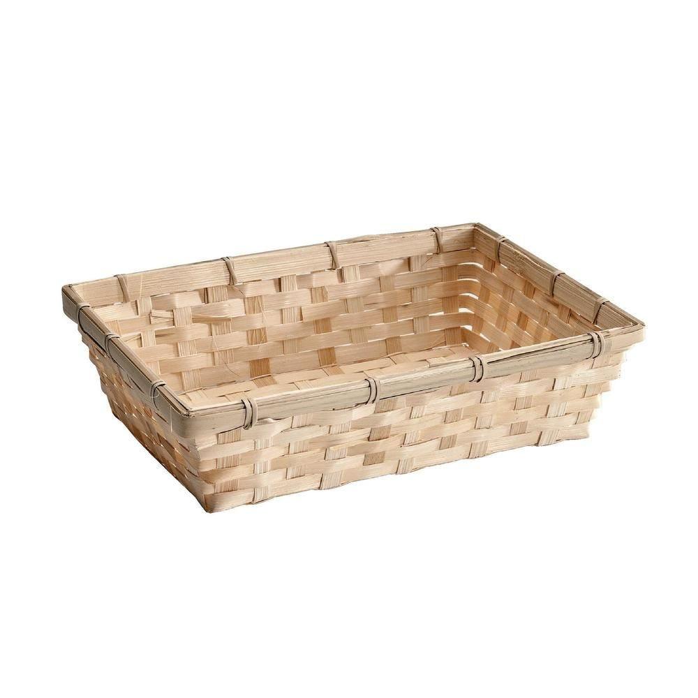 Panier bambou rectangulaire -  L 30 x P 20 x H 7 cm (photo)