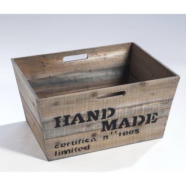 Bac en bois décoratif L.49 x P.37 x H.25cm (photo)