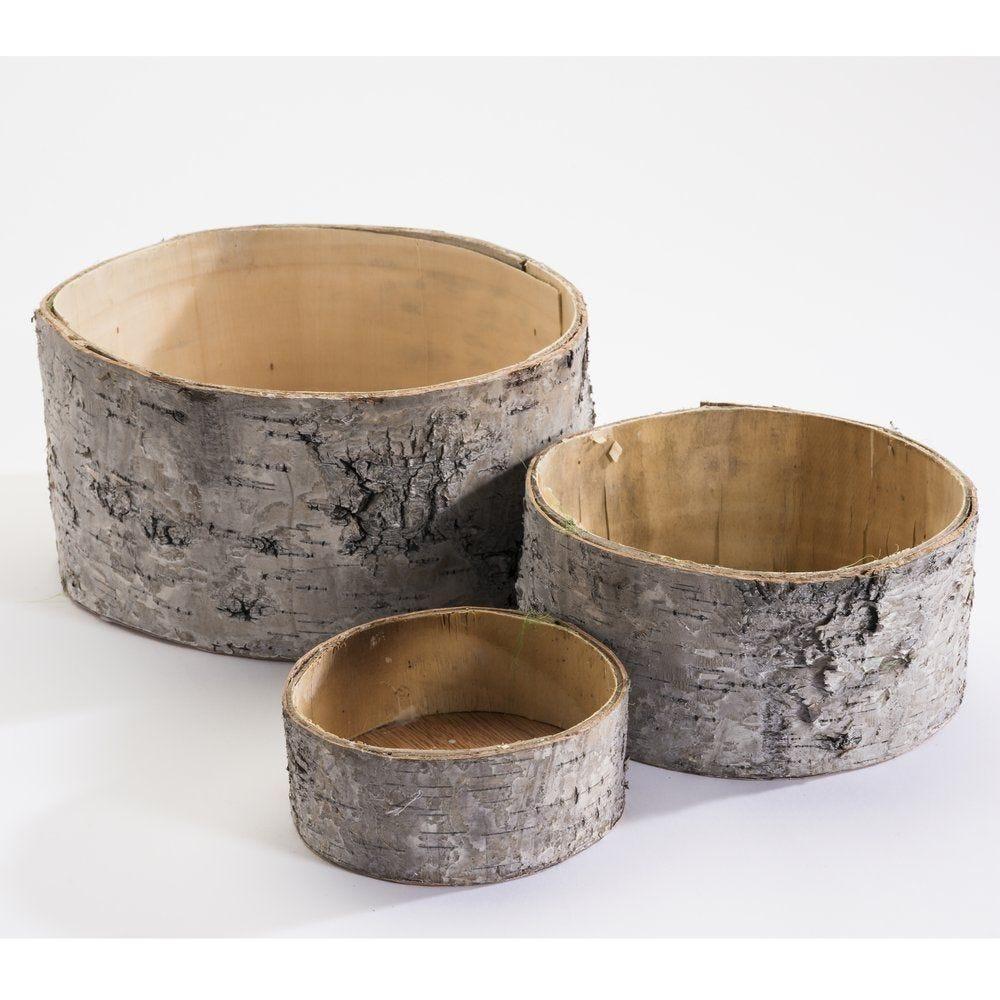 Tronc bois creux 4x10cm + 7x15.5cm + 10x20.5cm - set de 3 (photo)