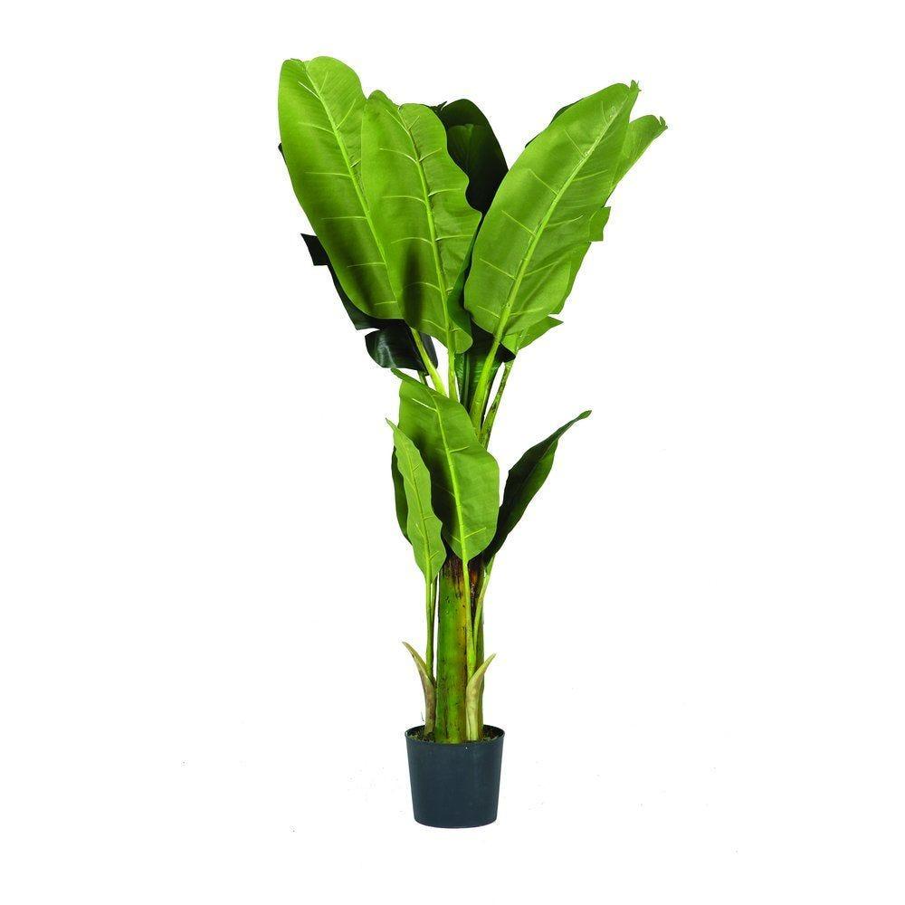 Arbre bananier vert polyester 120cm par 1 (photo)