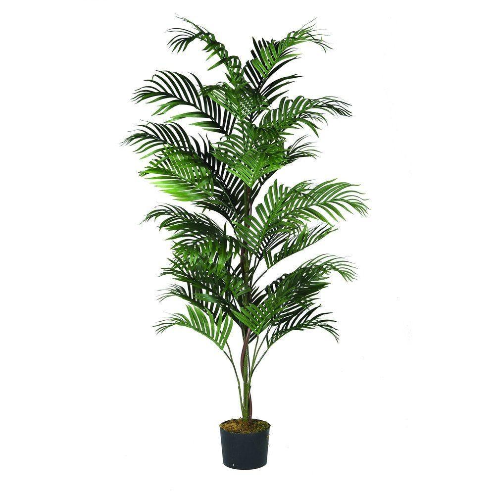 Arbre palmier areca vert polyester 180cm  par 1 (photo)