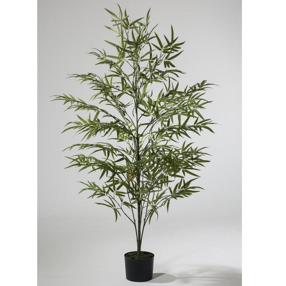 Arbre bambou vert polyester H.180 cm (photo)