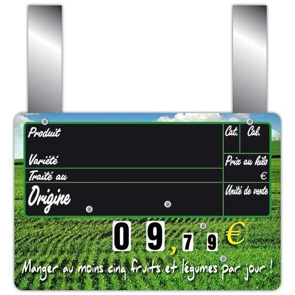 Etiquette maraîchère vocc à roues et à pattes 15 x 10 cm par 10 (photo)
