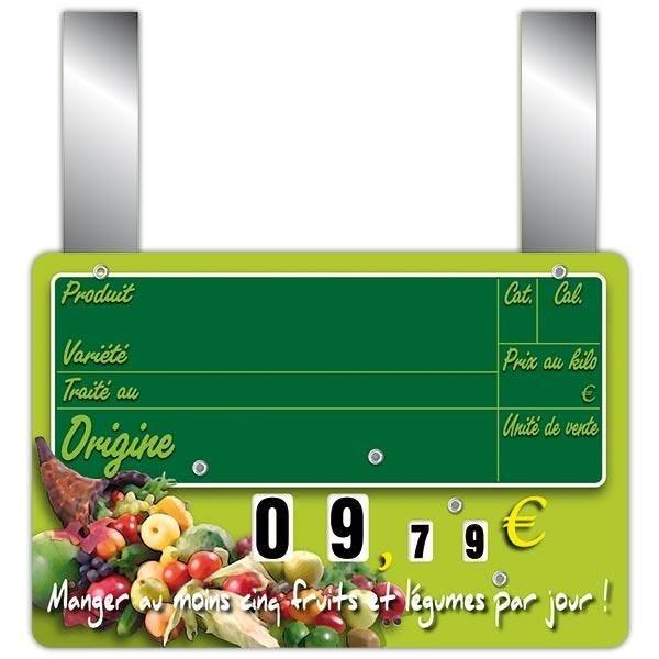 Etiquette new panier garni vocc à roues et à pattes 15 x 10 cm par 10 (photo)
