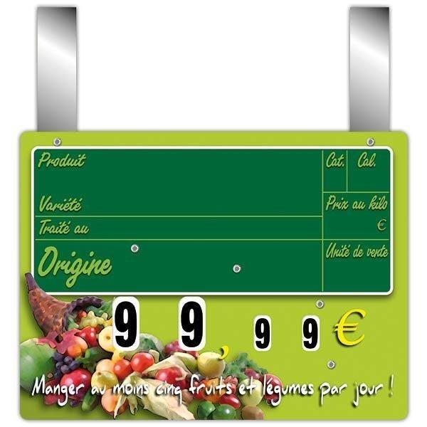 Etiquette new panier garni vocc à roues et à pattes 20 x 15 cm par 10 (photo)