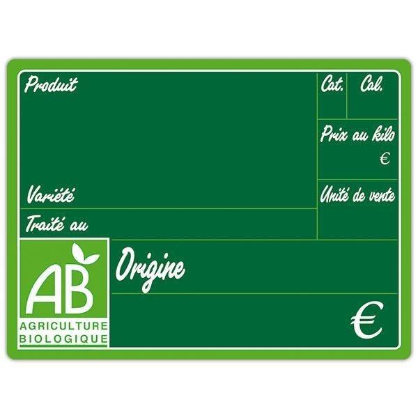 Etiquette bio primeur vocc sans pique et sans pattes 20 x 15 cm par 10 (photo)