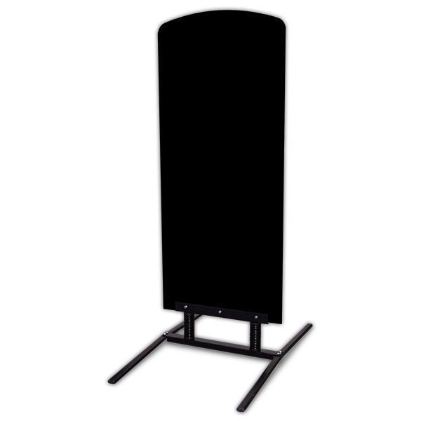 Panneau trottoir Sombrero noir avec pied à ressort 64 x 60 x 140 cm (photo)