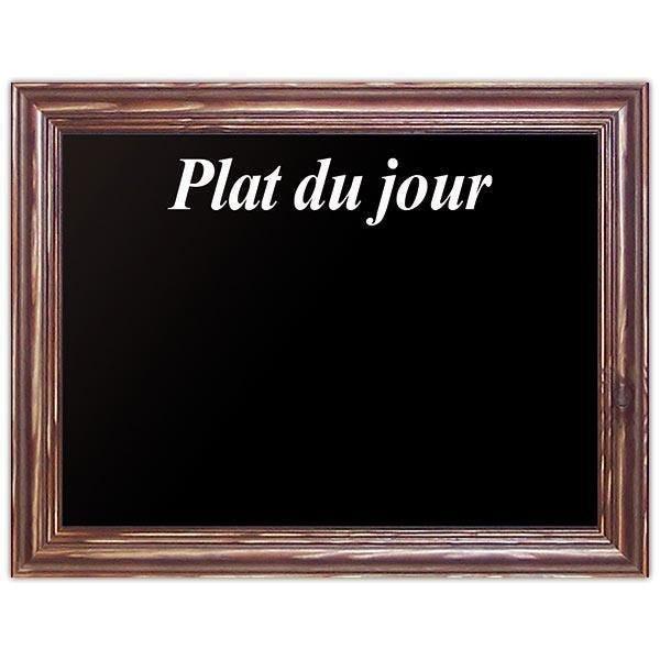 Ardoise noire plat du jour New authentique 40 x 30 cm (photo)