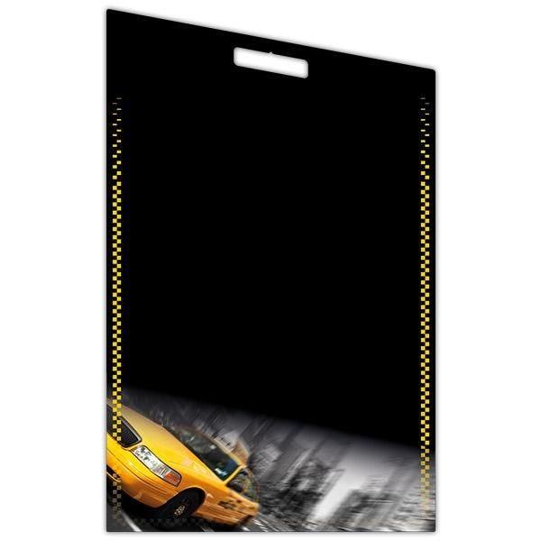 Panneau vierge new-york cadre imprimé r/v et poignée 44 x 70 cm