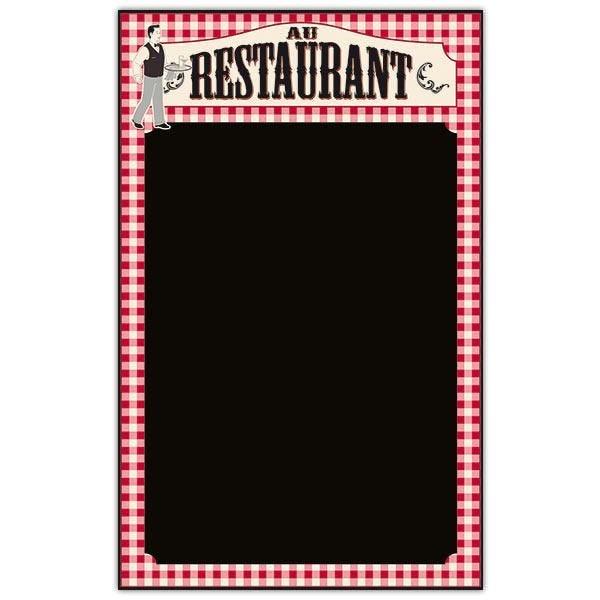 Panneau vierge Au restaurant cadre imprimé Recto 44 x 70 cm (photo)