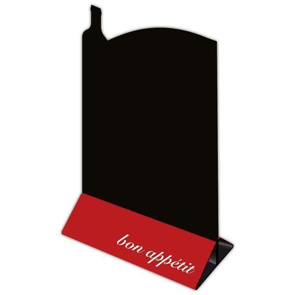 Chevalet de table Couverts ardoise noire Par 3 (photo)