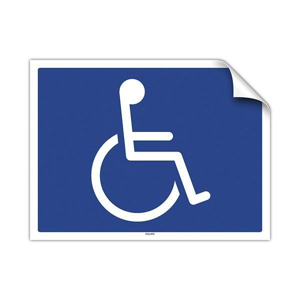 Pancarte adhésive Handicapés 20 x 15 cm (photo)