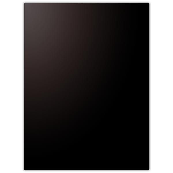 Pancarte vierge PVC 75/100° noir coins carrés 30 x 40 cm (photo)