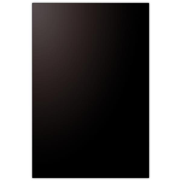 Pancarte vierge PVC 75/100° noir coins carrés 40 x 60 cm (photo)