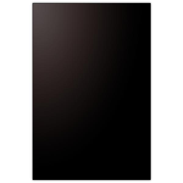 Pancarte vierge PVC 75/100° noir coins carrés 60 x 90 cm (photo)