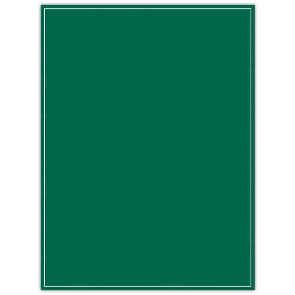 Panneau ardoisine r/v vert 1 face liseré 1 face 30 x 40 cm (photo)
