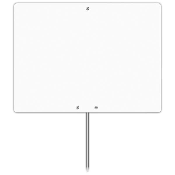 Etiquette blanche vierge avec pique inox 20 x 15 cm par 10