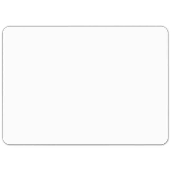 Etiquette blanche vierge sans pique 7 x 5 cm par 10